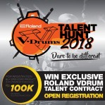 Roland vdrums talent hunt chics musik